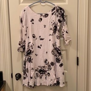 Free People White Floral Tunic Dress